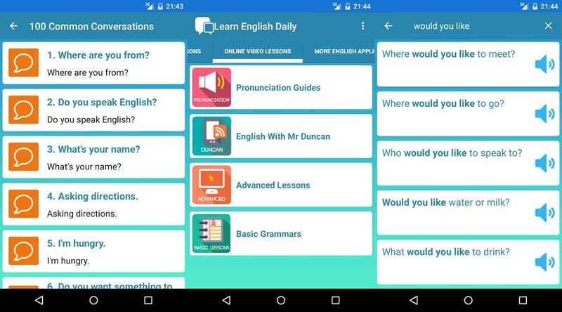 بهترین اپلیکیشن های آموزش زبان انگلیسی