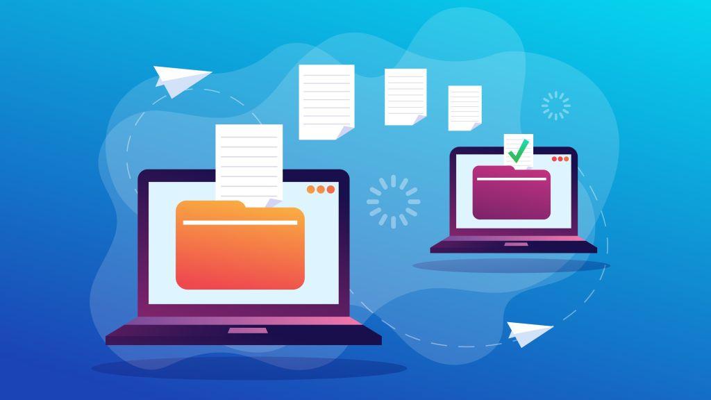 انتقال فایل به کامپیوتر