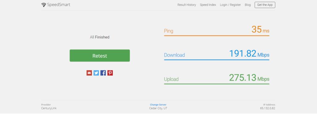 تست سرعت اینترنت