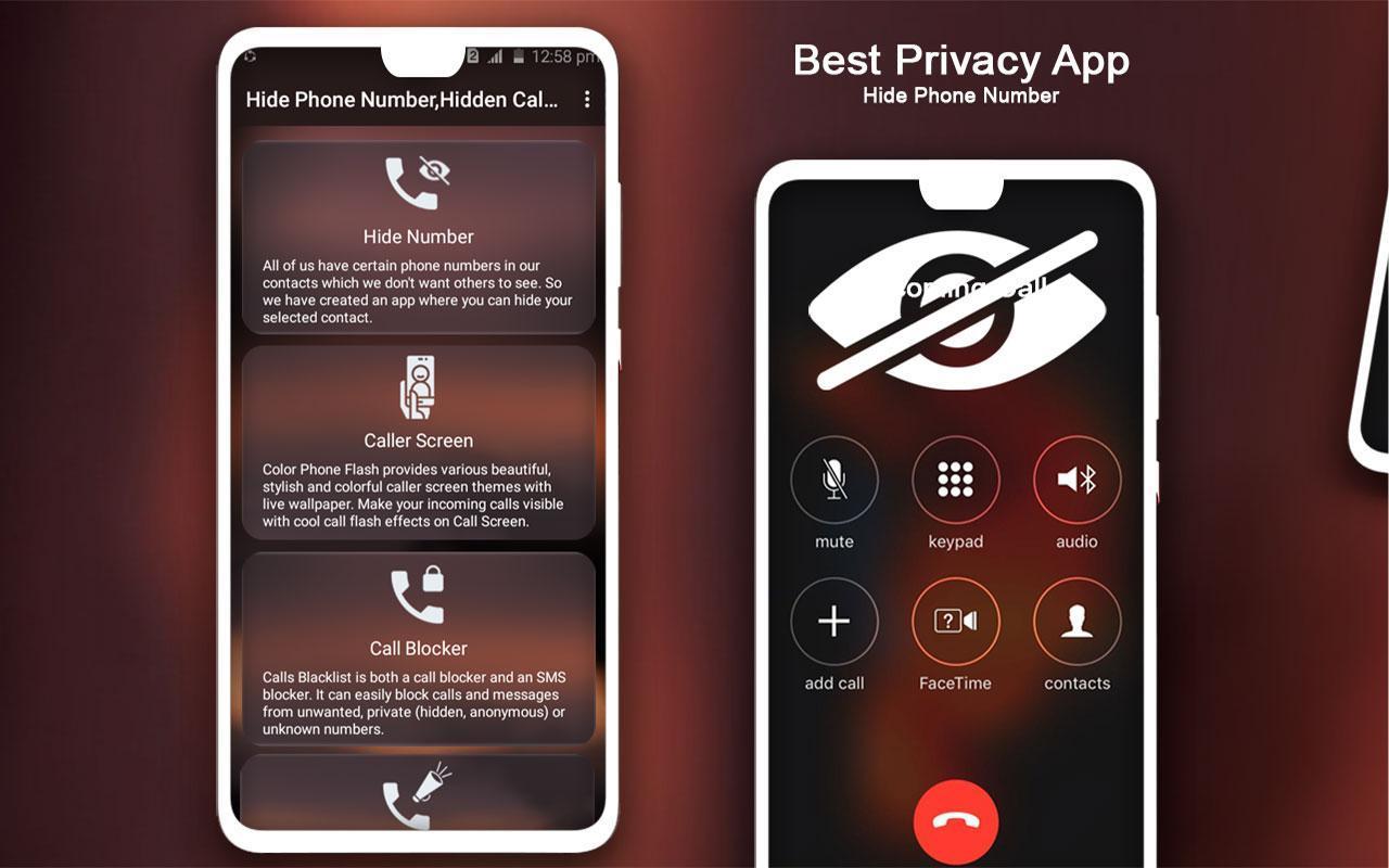اپلیکیشن مخفی کردن شماره موبایل