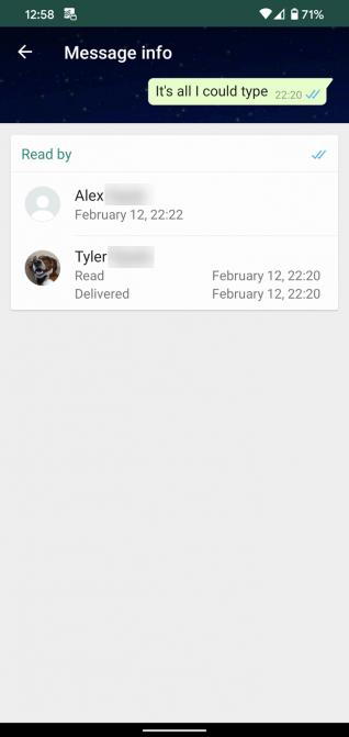 زمان دقیق خوانده شدن پیام در واتساپ