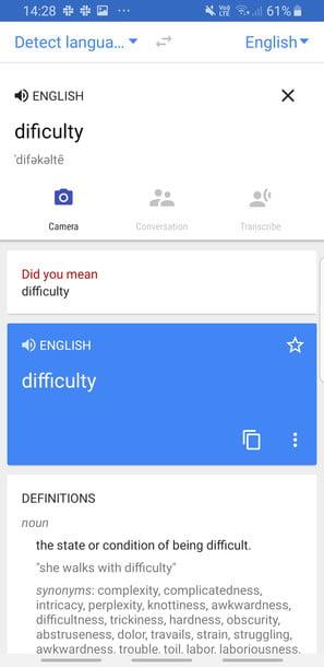 دیکشنری گوگل ترنسلیت